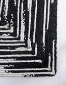 2' 6 x 6' Braided Chindi Runner Rug thumbnail