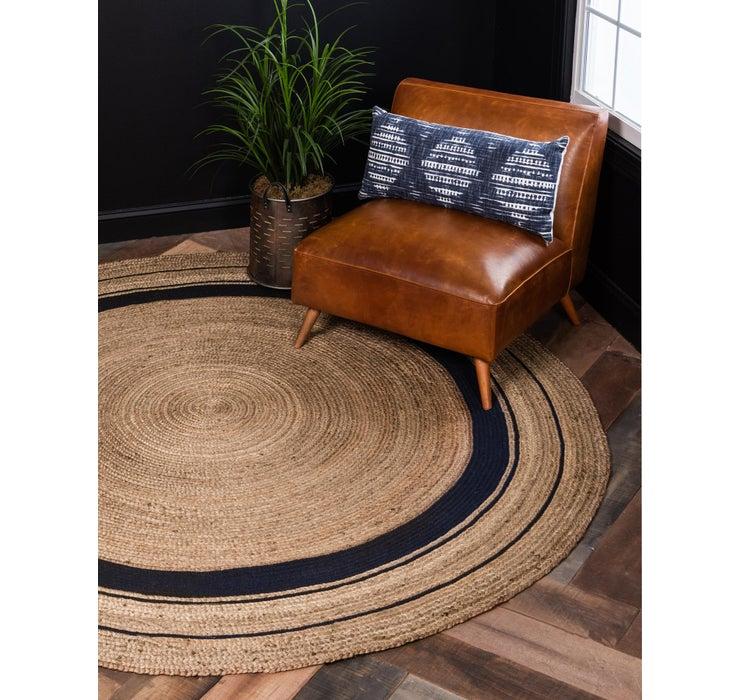 Image of 8' x 8' Braided Jute Round Rug
