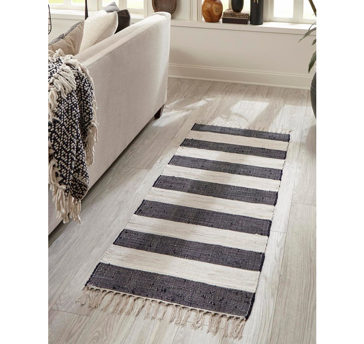 Image of 75cm x 183cm Chindi Rag Runner Rug