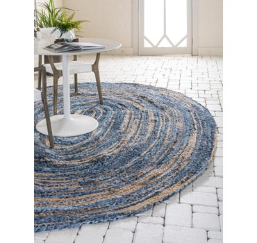 3' 3 x 5' Braided Chindi Oval Rug main image