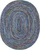 8' x 10' Braided Chindi Oval Rug thumbnail
