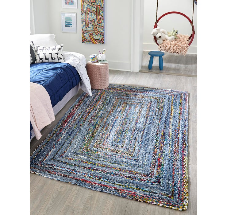 Image of 8' x 10' Braided Chindi Rug