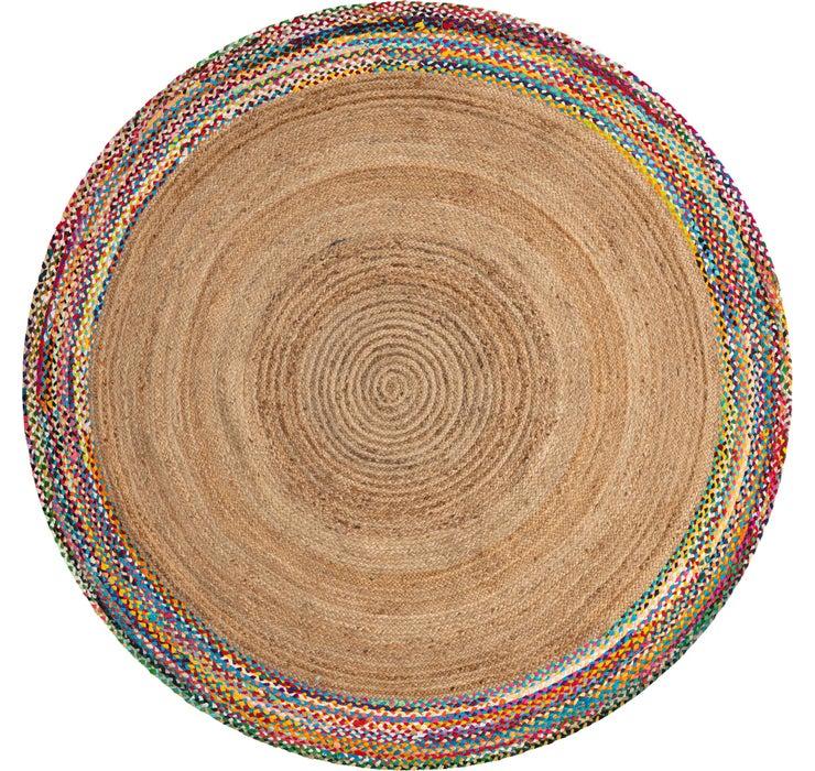 245cm x 245cm Braided Jute Round Rug