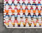 2' 6 x 6' Braided Chindi Runner Rug thumbnail
