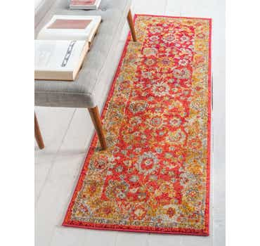 Image of  Rust Red Madeline Runner Rug