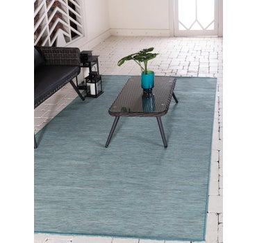 6' 3 x 9' Outdoor Solid Rug main image