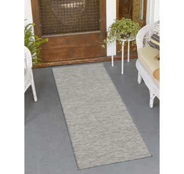Gray Outdoor Basic Runner Rug