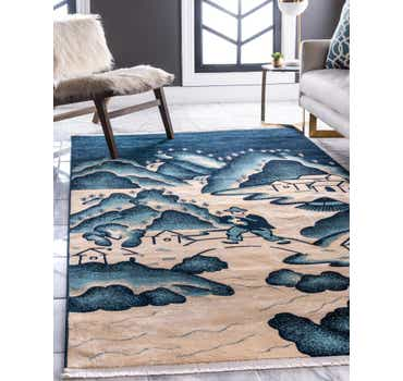 Image of  Navy Blue Pao Tou Rug