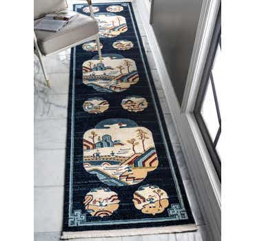 Image of  Navy Blue Pao Tou Runner Rug