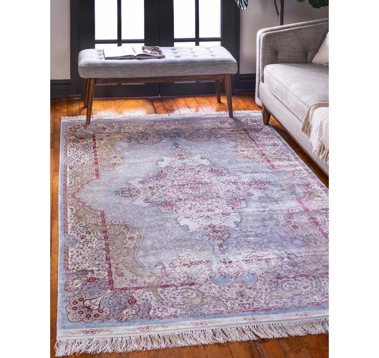 Image of 9' 10 x 16' 5 Qom Bamboo Silk Rug