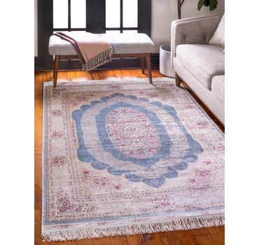 Image of 6' 7 x 9' 10 Qom Bamboo Silk Rug