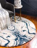 5' x 5' The Groove Round Rug thumbnail