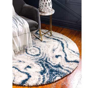Image of  Blue Athena Shag Round Rug