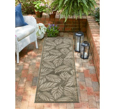 2' x 6' Outdoor Botanical Runner Rug main image