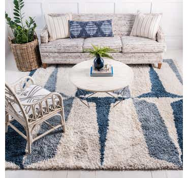 Image of  Blue Athena Shag Square Rug