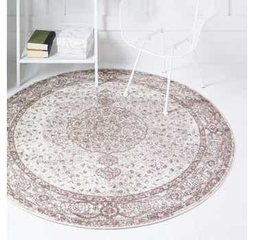 Image of  Light Brown Dover Round Rug