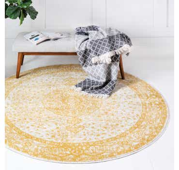 Image of  Yellow Dover Round Rug