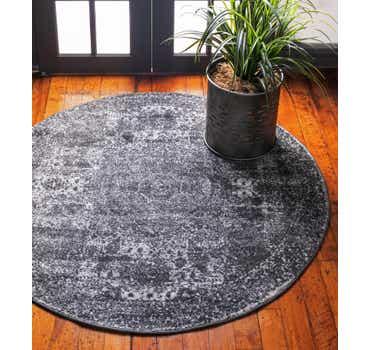 Image of  Dark Gray Dover Round Rug