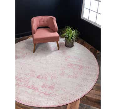 Image of  Pink Dover Round Rug