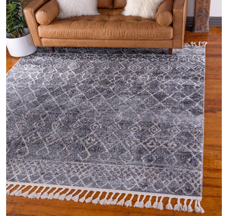 Dark Gray Artemis Square Rug
