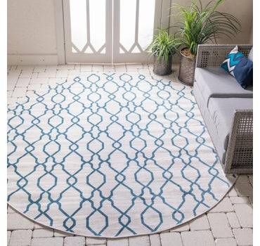 8' x 8' Outdoor Oasis Round Rug main image