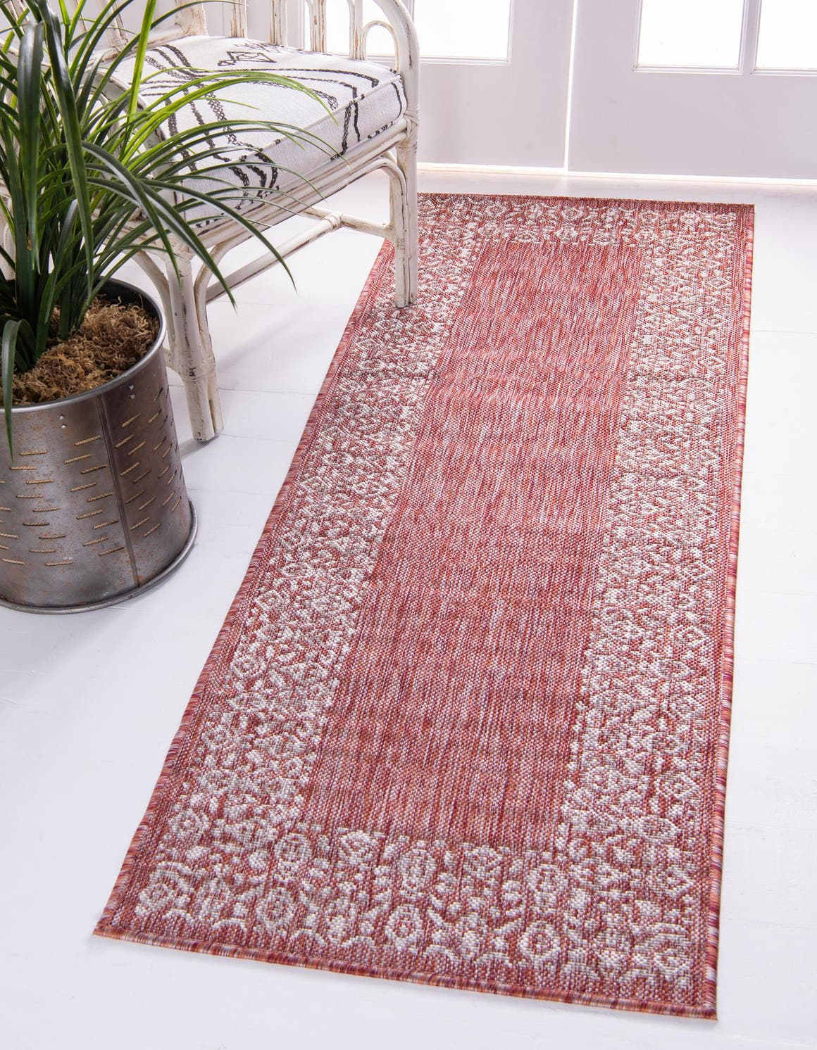 2' x 6' Outdoor Border Runner Rug main image