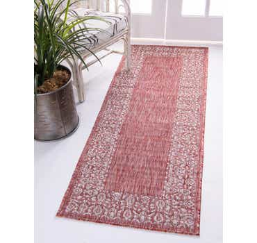Image of  Rust Red Outdoor Border Runner Rug