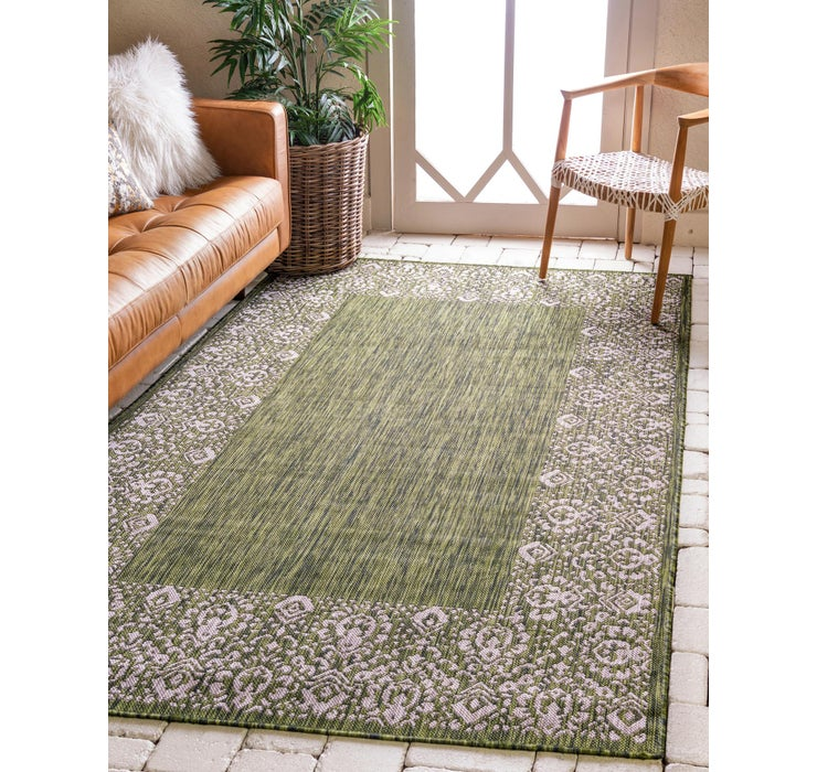 8' x 11' 4 Outdoor Border Rug