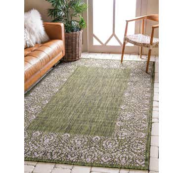 Image of  Green Outdoor Border Rug