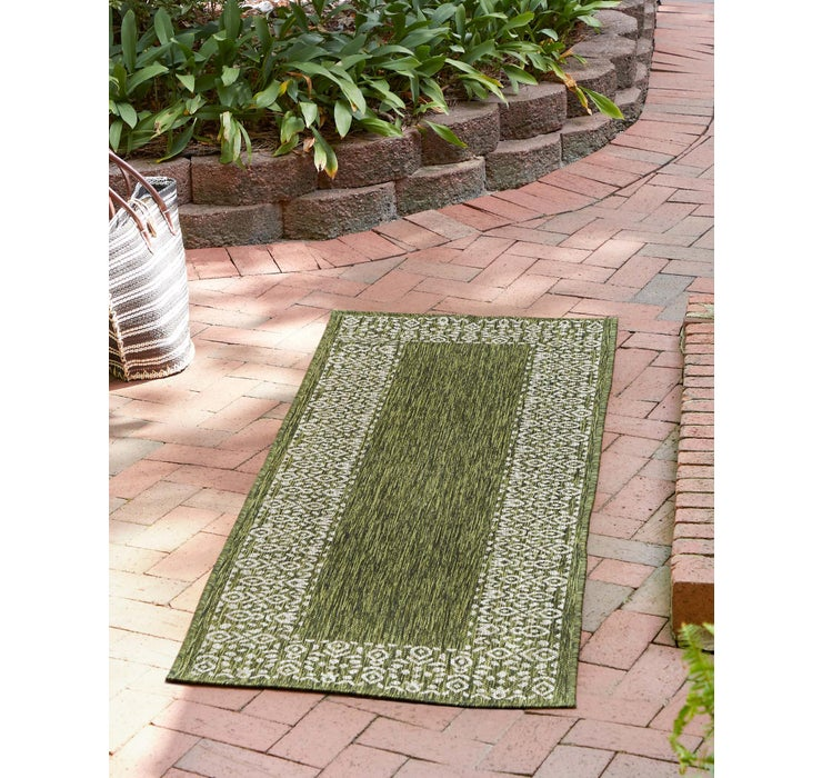60cm x 183cm Outdoor Border Runner Rug