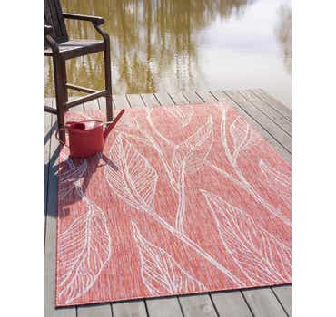 Image of  Rust Red Outdoor Botanical Rug