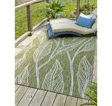 Image of 7' x 10' Outdoor Botanical Rug