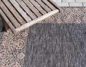 4' x 4' Outdoor Border Round Rug thumbnail