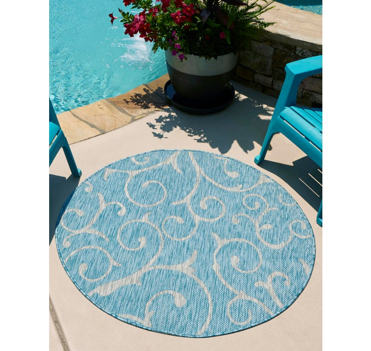 122cm x 122cm Outdoor Botanical Round...