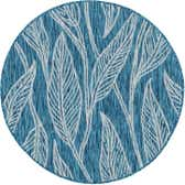 4' x 4' Outdoor Botanical Round Rug thumbnail