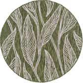 4' x 4' Outdoor Botanical Round Rug thumbnail