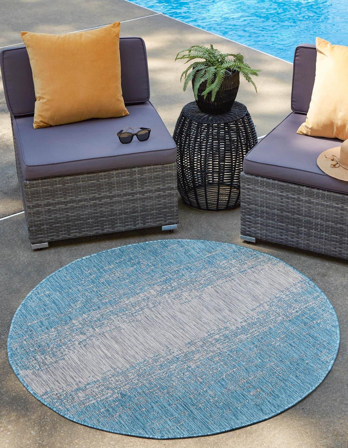 10' 8 x 10' 8 Outdoor Modern Round Rug main image