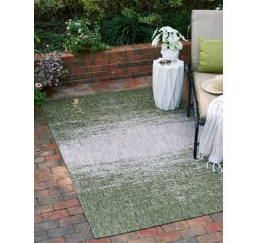Image of  Green Outdoor Modern Rug