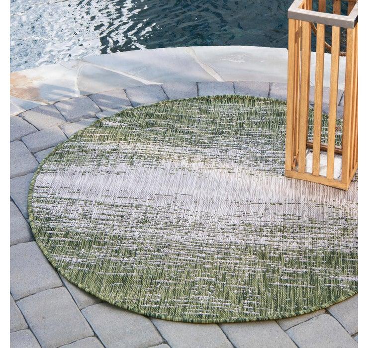 122cm x 122cm Outdoor Modern Round Rug