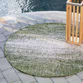 4' x 4' Outdoor Modern Round Rug thumbnail