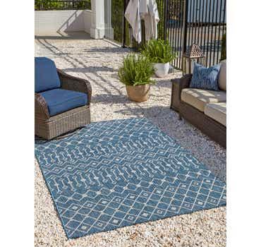 Image of  Blue Outdoor Lattice Rug