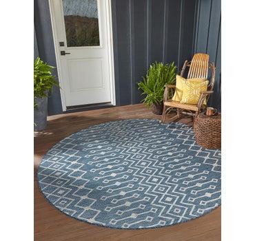 5' x 5' Outdoor Trellis Round Rug main image