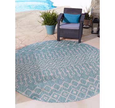 Image of 4' x 4' Outdoor Trellis Round Rug