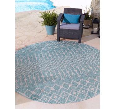 3' 3 x 3' 3 Outdoor Lattice Round Rug main image