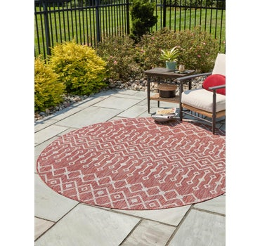 3' 3 x 3' 3 Outdoor Trellis Round Rug main image