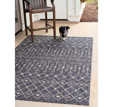 Image of  Charcoal Gray Outdoor Lattice Rug