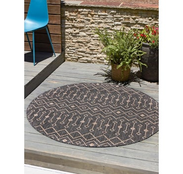 4' x 4' Outdoor Lattice Round Rug main image