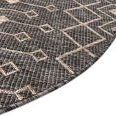 4' x 4' Outdoor Lattice Round Rug thumbnail