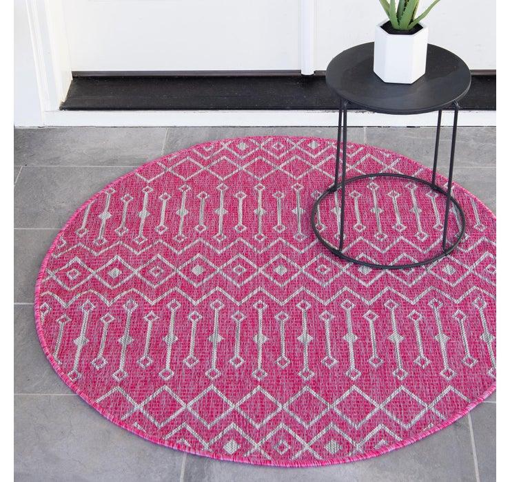 Image of 4' x 4' Outdoor Trellis Round Rug