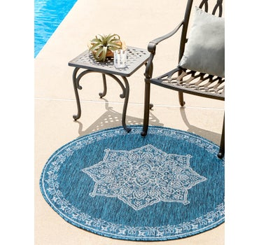 4' x 4' Outdoor Traditional Round Rug main image